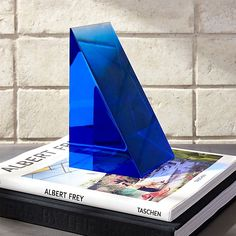 Deep Blue Acrylic Bookend |
