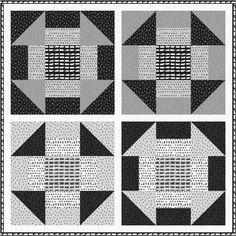 "= free pattern = giant Churn Dash quilt pattern, 68  x 68"", at Robert Kaufman Fabrics"