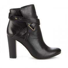Kaila block heel bootie in Black.