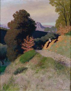Environs de Cagnes le soir by Félix Vallotton Pierre Bonnard, Abstract Landscape, Landscape Paintings, Art Graphique, Toulouse, Figurative Art, Oeuvre D'art, Art History, New Art