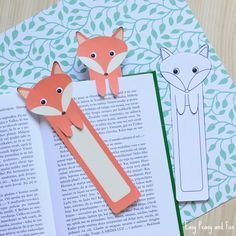 Free-Printable-Fox-Bookmarks-2.jpg 700 × 700 bildepunkter
