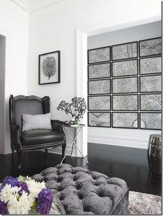 grey velvet ottoman