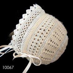 Baby Bonnet Pattern, Crochet Baby Bonnet, Baby Girl Crochet, Crochet Baby Clothes, Crochet For Kids, Baby Knitting Patterns, Crochet Animal Patterns, Baby Hats Knitting, Baby Patterns
