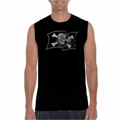 LOS ANGELES POP ART Los Angeles Pop Art Sleeveless Famous Pirate Captains and Ships Word Art T-Shirt