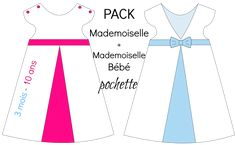 "PACK Patrons ""Mademoiselle""   ""Mademoiselle Bébé"" - Pochette from Chut Charlotte !"