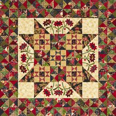 = free pattern = Midnight Blooms quilt by Kim Diehl as seen at All People Quilt