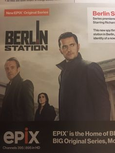 Cover photo of Berlin Station. Richard Armitage, Rhys Ifans.