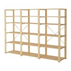 HEJNE 3 section shelving unit IKEA You can easily expand your combination if you need more storage by adding on sections and shelves.