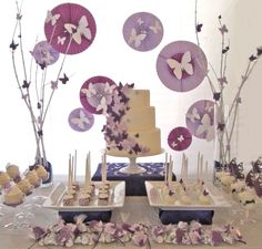 Awesome Baby Shower Party Decor With Stunning Serving Table Decor With Buterflies in The Sweetest Baby Accessories for Shower : Butterfly Baby Shower ...