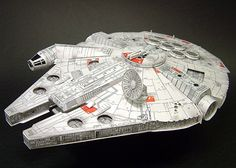 The Millennium Falcon is a spacecraft in the Star Wars universe commanded by smuggler Han Solo and his Wookiee first mate, Chewbacca     Download this paper model