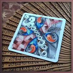 """Tickled To Tangle: """"It's a String Thing"""" #163 Tiles"""