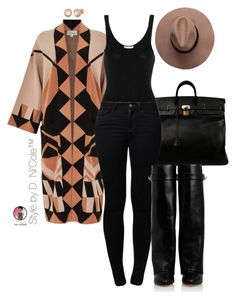 """""""Untitled #2803"""" by stylebydnicole ❤ liked on Polyvore featuring Hermès, Temperley London, James Perse, Noisy May, Givenchy and Allurez"""