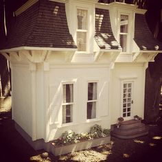 YARD – miniature house as a kids clubhouse for the yard. Kim Saulter
