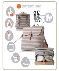 Life has just got easier with our stylish backpack diaper bag. Tough and durable, you'll be ready for anything, while looking great and being practical