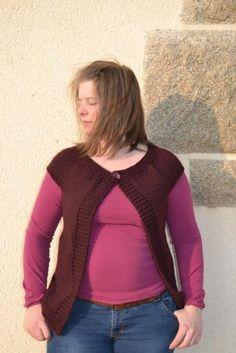 Mon tuto DIY gilet sans manche au tricot Tricot Gilet Sans Manche, Tricot  Gilet Femme 85d3cc848a7d