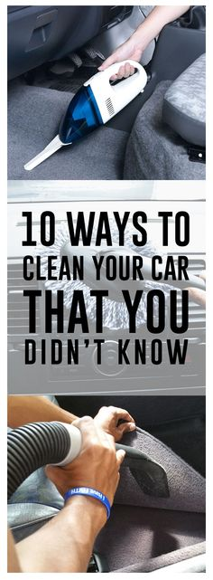 10 Ways to Clean Your Car That You Didnt Know