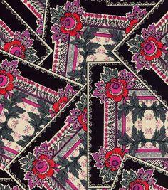 Keepsake Calico™ Cotton Fabric-Patches Pink Black