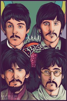 Cartoon Pictures of The Beatles - caricature yourself from a photo, our caricature artist will draw a funny caricature drawing of you, make custom caricatures, cartoon pictures, animation and a vector image of yourself Beatles Poster, Les Beatles, Beatles Art, Beatles Museum, Beatles Love, Rock Posters, Band Posters, Concert Posters, Anime Comics