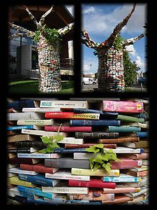 """""""The Cultivated Tree..."""" by Cyril Marchand. In front of the library of Tournefeuille, near Toulouse.  Interesting way to used old and damaged"""