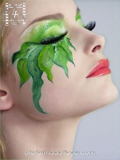 Make-Up Atelier France. Exotic garden green makeup