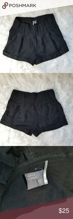 Urban Outfitters Sparkle & Fade Shorts High waist black shorts from Urban Outfitters brand Sparkle & Fade. Gently used. 4 pockets. Flowy fit. Size 4. 100% rayon. Waist: 13 in. Length 11.5 in. Inseam: 2.5 in. Urban Outfitters Shorts