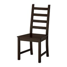 KAUSTBY Chair, brown-black $49.00	 The price reflects selected options Article Number:  102.428.38 Solid pine is a natural material wh...