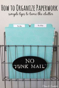Great tips on how to organize paperwork. Organizing Paperwork, Clutter Organization, Household Organization, Home Office Organization, Paper Organization, Organizing Your Home, Organizing Ideas, Planners, Diy Rangement