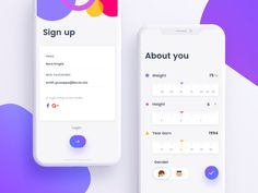 https://dribbble.com/shots/3940119-Signup-and-Forms
