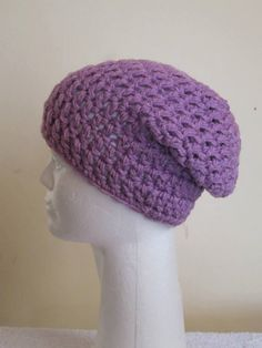 3 Days Only 50% OFF Chunky Beanie Hat/Slouchy with or without pom poms- Orchid by VansBasicWear on Etsy