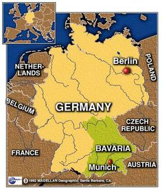 Bavaria Germany Map