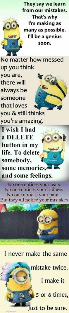 Top 5 #Funny #Minion #Quotes About Mistakes... - 5, Funny, funny minion quotes, Minion, Minion Quote Of The Day, Mistakes, Quotes, Top - Minion-Quotes.com