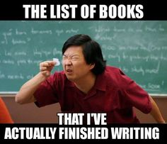 The list of books that I've actually got done writing.
