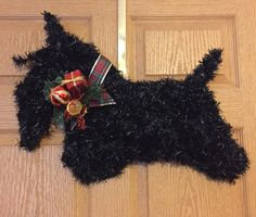 Scottish Terrier Scottie Wreath Great for by AdorablePetWreaths