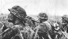 Waffen SS in the trenches during the Battle of Kursk (Operation Citadel) July 1943. The trooper in the foreground wears a beard, a rather uncommon liberty in the SS allowed to some foreign volunteers.