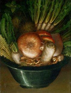 Salvador Dali Painting Optical Illusion | Bowl of Vegetables - http://www.moillusions.com/salvador-dali-painting-optical-illusion-bowl-vegetables/