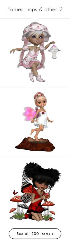 """""""Fairies, Imps & other 2"""" by wanda-india-acosta ❤ liked on Polyvore featuring steampunk, dolls, people, angels, fantasy, angel, tubes, backgrounds, winter and snow"""