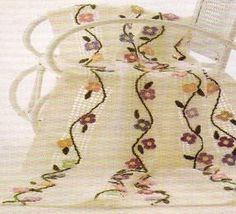 Crochet Pattern Rose Trellis Afghan : 1000+ images about Crochet afgans with embroidery on ...