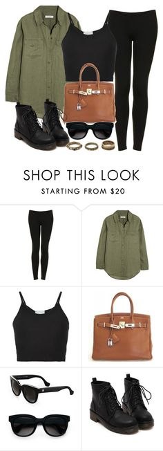 """""""Style  #10547"""" by vany-alvarado ❤ liked on Polyvore featuring Topshop, Equipment, Lost & Found, Hermès, Balenciaga and Forever 21"""