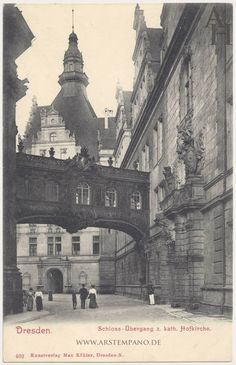 Dresden, Residenzschloss, Georgentor from the west - Mein Dresden - History Museum, World History, German Architecture, Victoria House, Photos Originales, Dresden Germany, Architectural Section, Vintage Photographs, Historical Photos
