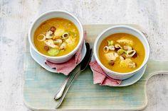 Dit is herfst in een kommetje - Recept - Gevulde pompoensoep - Allerhande