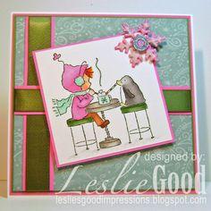 Ramona Shares Her Hot Chocolate, image Stampingbella