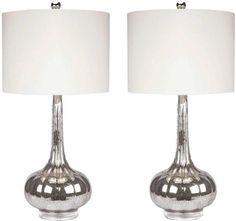 Abbyson Living Michelle antiqued glass table lamp set - Polyvore