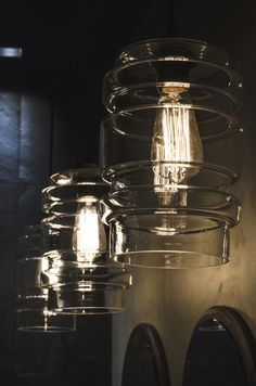 Glass lamps retro