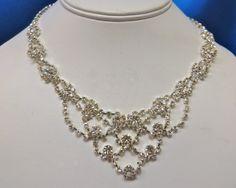 Bridal  Rhinestone Necklace  Rhinestone Wedding Necklace by ctroum, $31.99