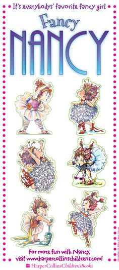 Fancy Nancy, Party Time, Printables, Cards, Print Templates, Maps, Playing Cards