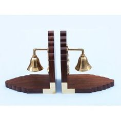 Bell Book Ends - Brass Hand Bells - Nautical Decor Home Decoration - Executive Promotional Gift (Toy)  http://howtogetfaster.co.uk/jenks.php?p=B003B3SJN8  B003B3SJN8