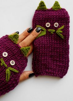 Cats Knit Gloves, Crochet Gloves, Knitted Gloves, Mittens, Gloves Handmade, Valentine Gift, Women Gloves, Cat, Purple Glove, Winter Glove   100% 1st class. Quality, Purple Pfalz, ropes were used. These fingerless. Soft, comfortable glove. Elegant was built. Funny Cats glove. Learn how to keep warm in winter. Relatives brother, my friend. gift may be an alternative.  For best results, wash your hands cool and dry flat. Dry or iron, no bleach tumble.  Deliveries will then be sent out within…