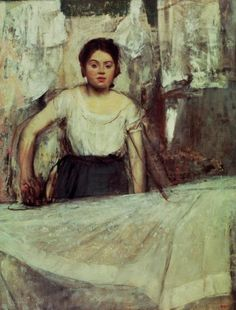 The Laundress by Edgar Degas