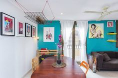 A bright and airy apartment in the heart of Barcelona close to all major sights and tourist attractions. A few minutes from famous Las Ramblas, MACBA, Placa Reial and loads of other top spots. 2 x cosy double bedrooms. Great for 5.