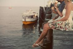 Ice cream on the dock with you, darling.